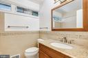 Main level hall bathroom - 6801 GRANBY ST, BETHESDA