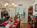 Formal dining room with french doors to foyer. - 745 & 747 MERRIMANS LN, WINCHESTER