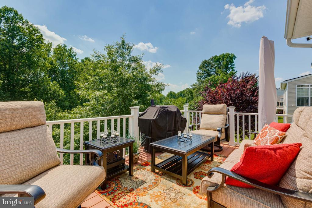 Enjoy your Beautiful Deck Backing to Trees - 4917 TROTTERS GLEN DR, UPPER MARLBORO