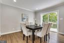 Dining room with access to rear patio - 1948 SEMINARY RD, SILVER SPRING