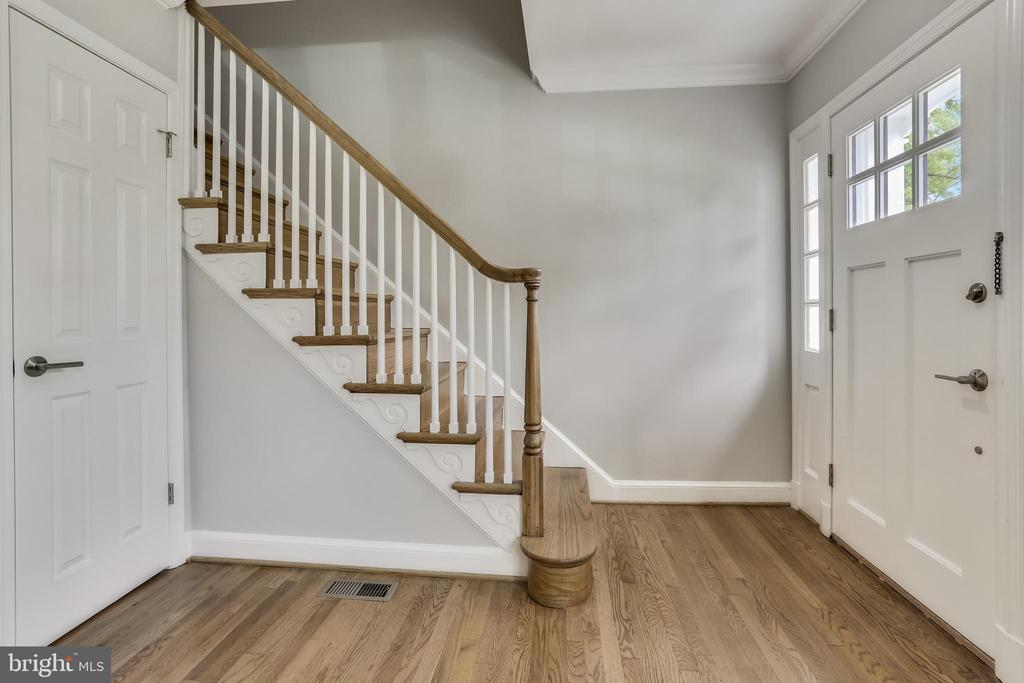 Foyer with newly refinished hardwood floors. - 1948 SEMINARY RD, SILVER SPRING