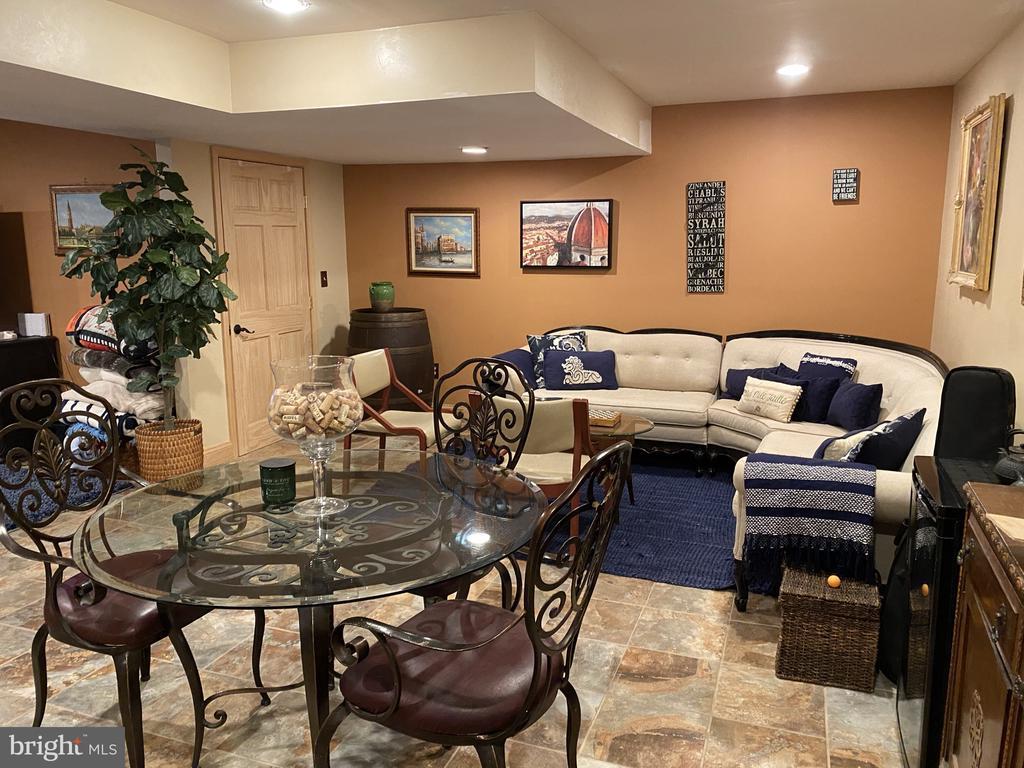 Rec Room  w/ Recessed Lights & Tile Floor. - 23039 RAPIDAN FARMS DR, LIGNUM