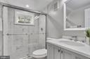 Lower level full bath with shower - 1948 SEMINARY RD, SILVER SPRING