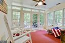 basement sunroom with gorgeous view - 2415 BLACK CAP LN, RESTON