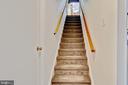 stairs to basement - 2415 BLACK CAP LN, RESTON