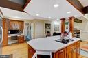 kitchen with built in office - 2415 BLACK CAP LN, RESTON