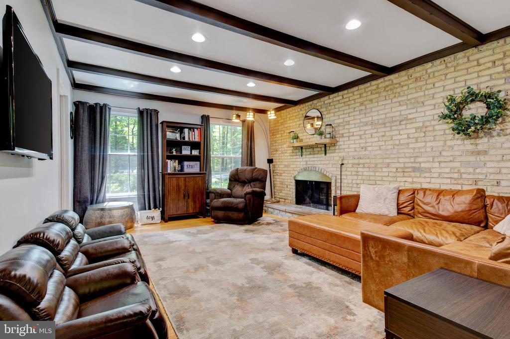 cozy family room with fireplace - 2415 BLACK CAP LN, RESTON