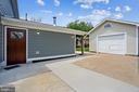 Side door to house and extra wide garage - 111 BAKER ST, MANASSAS PARK