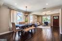 Closer view of Dining Area from Kitchen - 111 BAKER ST, MANASSAS PARK