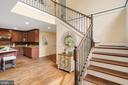Hardwood stairs - 12805 KAHNS RD, MANASSAS