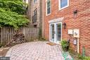 Large end unit patio - 6705 WASHINGTON BLVD #G, ARLINGTON