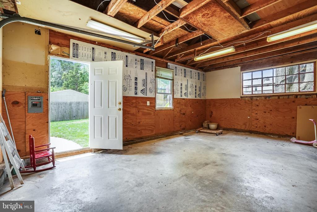 Garage also has walk-door with access to backyard - 111 BAKER ST, MANASSAS PARK