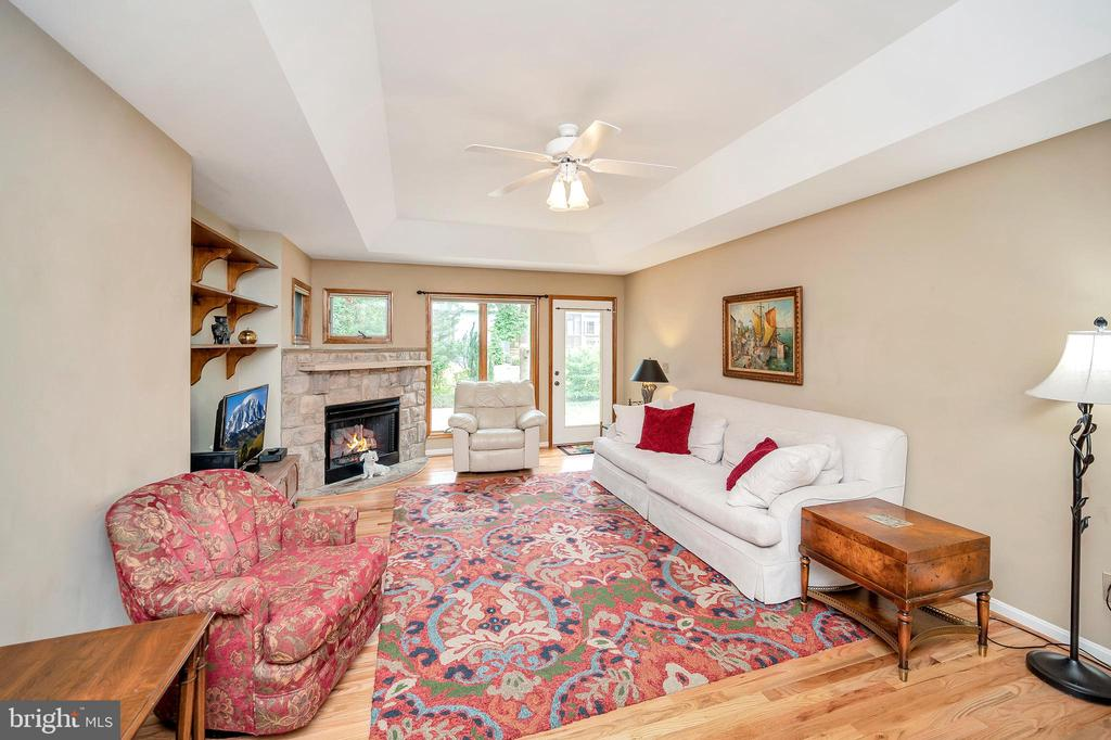 Tray Ceiling & Gas fireplace Family Room - 205 PINE VALLEY RD, LOCUST GROVE