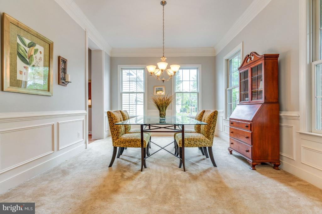 Formal Dining Room with all the Moldings - 41873 REDGATE WAY, ASHBURN