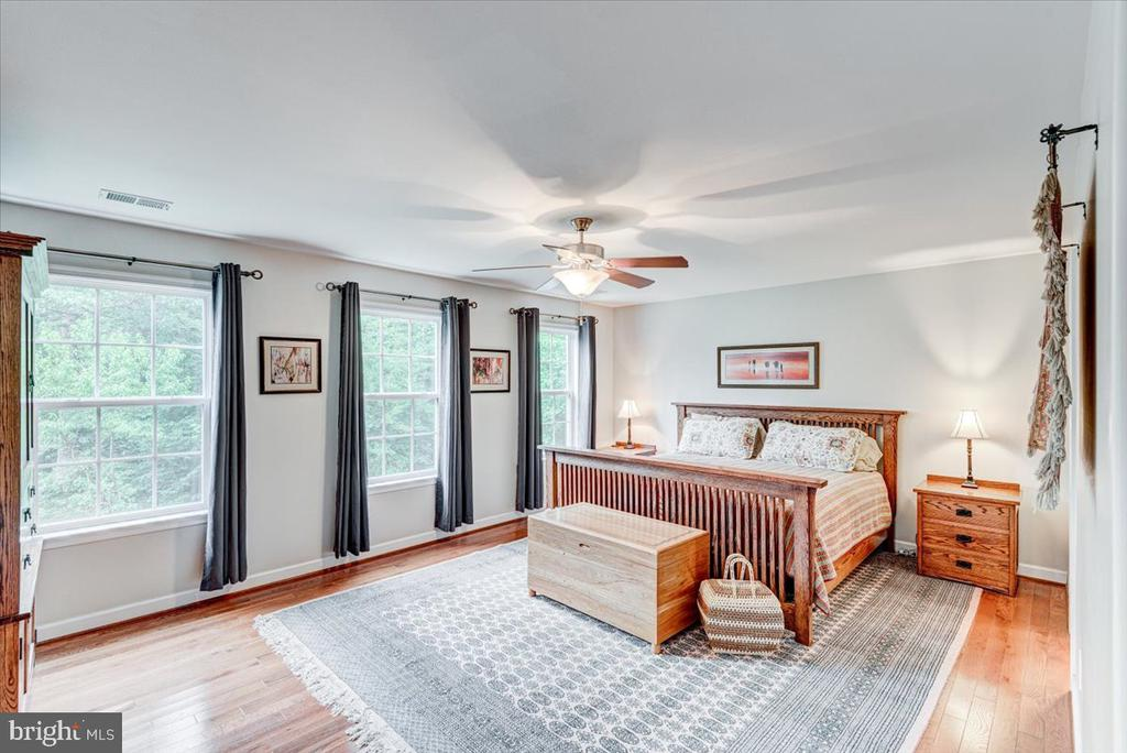 Large primary bedroom with sitting room. - 26 BLOSSOM TREE CT, STAFFORD