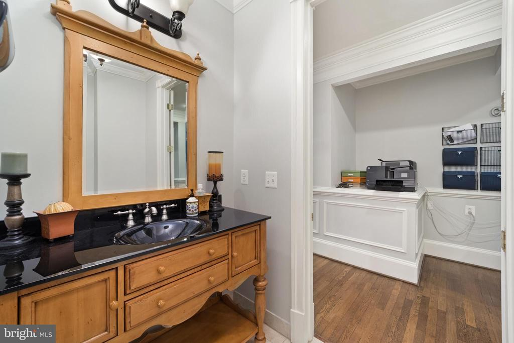 Main Level Half Bathroom - 213 LOUDOUN ST SW, LEESBURG
