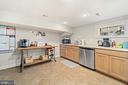 Lower Level Kitchen - 213 LOUDOUN ST SW, LEESBURG
