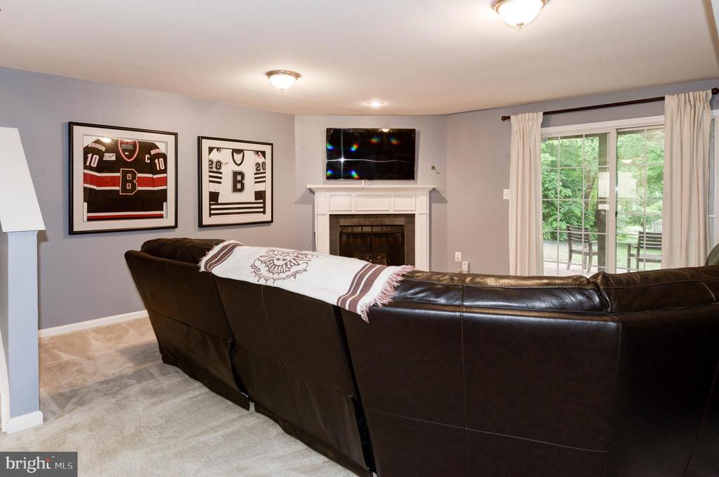 Lower Level Family Room in Walk Out Basement - 1211 HERITAGE COMMONS CT, RESTON