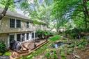 Back deck/patio with waterfall off family room - 1515 STUART RD, RESTON