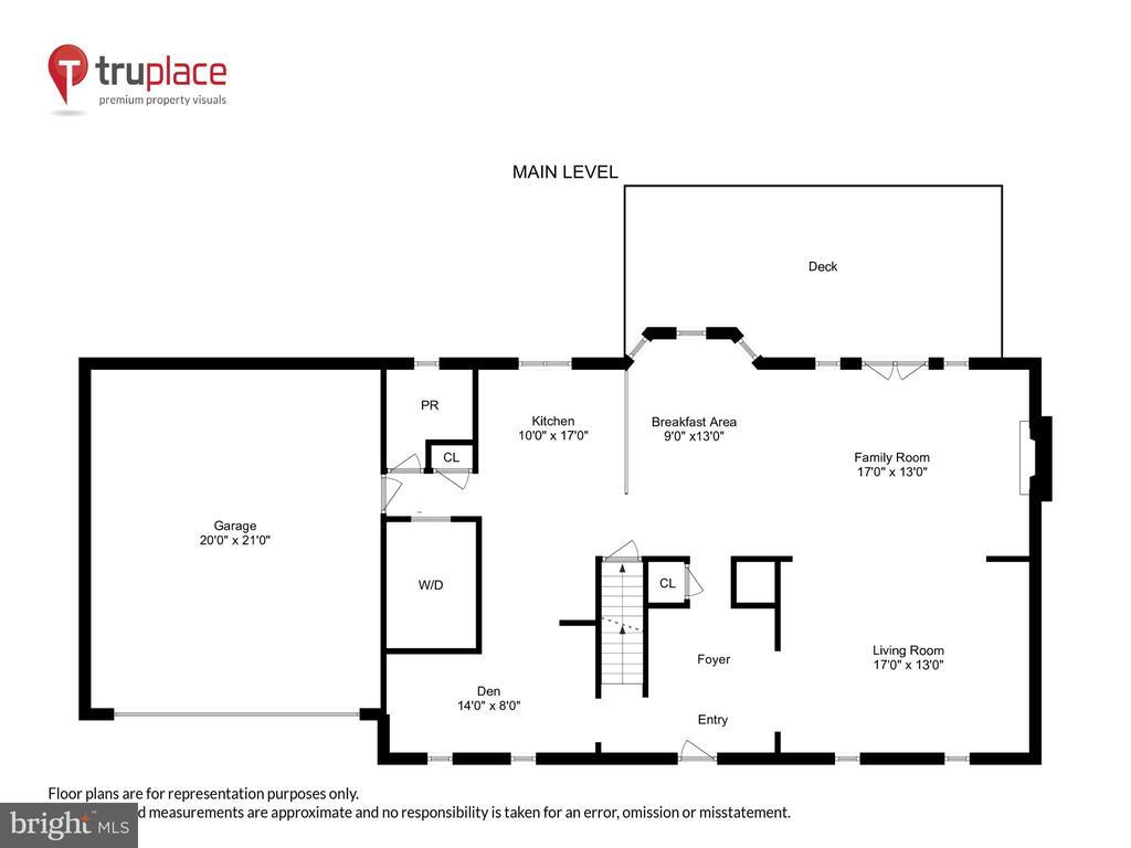 Main Lvl Floorplan made for Entertaining - 1515 STUART RD, RESTON
