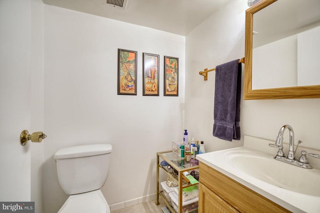 Half Bathroom in Primary Bedroom - 11236 CHESTNUT GROVE SQ #164, RESTON