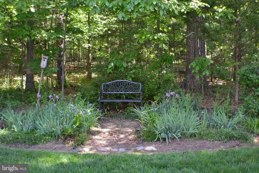 Garden Bench with the park behind it - 45838 CABIN BRANCH DR, STERLING