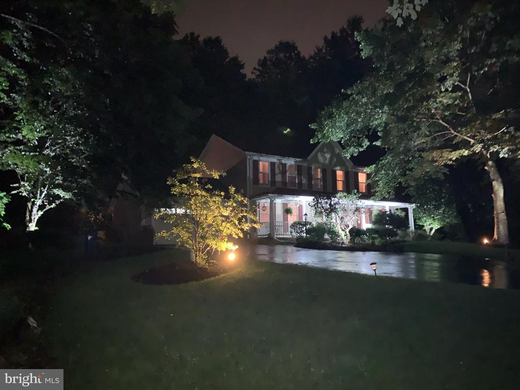 Gorgeous outside night-lighting system. - 1515 STUART RD, RESTON