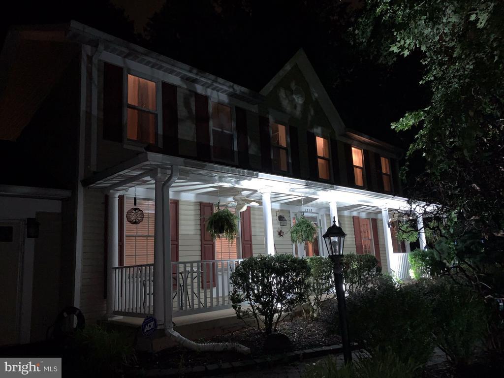 Front Porch at Night - 1515 STUART RD, RESTON