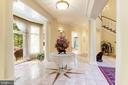 Suptuous marble foyer leads to private terrace - 1342 POTOMAC SCHOOL RD, MCLEAN