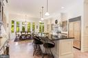 Sunny gourmet kitchen with breakfast area - 1342 POTOMAC SCHOOL RD, MCLEAN