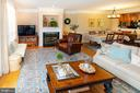 OPEN family/living room with gas FP - 5000 DONOVAN DR, ALEXANDRIA