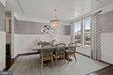 stylish dining space is chic and refreshing - 1015 AKAN ST SE, LEESBURG