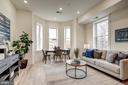 Living Room with Elegant Bay Windows - 1737 11TH ST NW #100, WASHINGTON