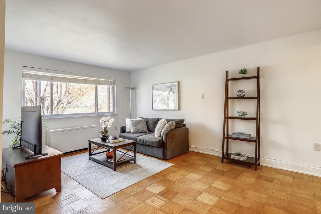 Living Room From Kitchen View - 4555 MACARTHUR BLVD NW #G6, WASHINGTON
