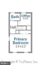 Upper level floor plan - 2600 16TH ST S #713, ARLINGTON