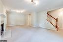 Lower level family room - 6151 BRAELEIGH LN, ALEXANDRIA
