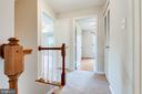 Second level hallway - 6151 BRAELEIGH LN, ALEXANDRIA