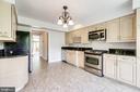 Kitchen with stainless steel appliances - 6151 BRAELEIGH LN, ALEXANDRIA