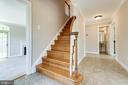 Gracious staircase to the second level - 6151 BRAELEIGH LN, ALEXANDRIA