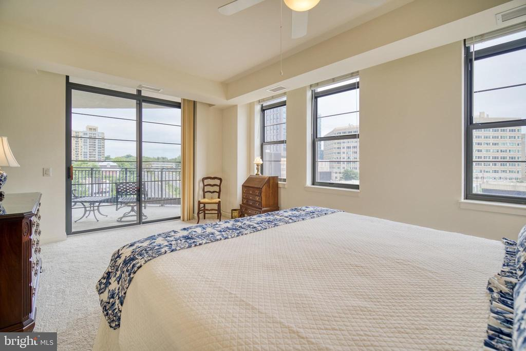 There is access to the balcony from this room also - 1830 FOUNTAIN DR #604, RESTON