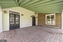 covered brick patio off dining room - 20707 ST LOUIS RD, PURCELLVILLE