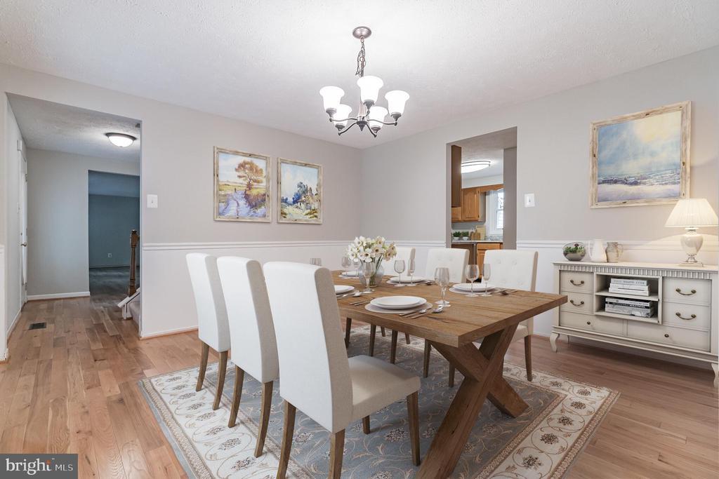 Spacious formal dining room - 1227 AQUIA DR, STAFFORD