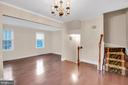 2nd level w/ living, dining, kicthen and half bath - 6831 WASHINGTON BLVD #D, ARLINGTON