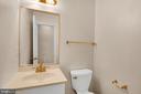 Half bath on the second level - 6831 WASHINGTON BLVD #D, ARLINGTON