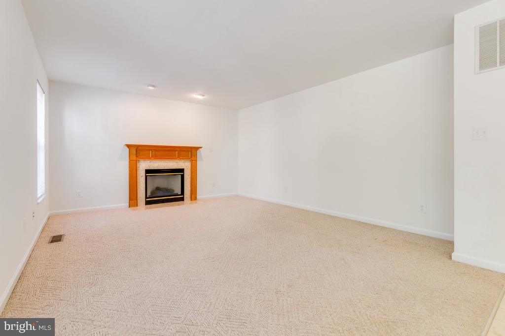 FAMILY ROOM WITH FIRE PLACE - 15355 BALD EAGLE LN, WOODBRIDGE