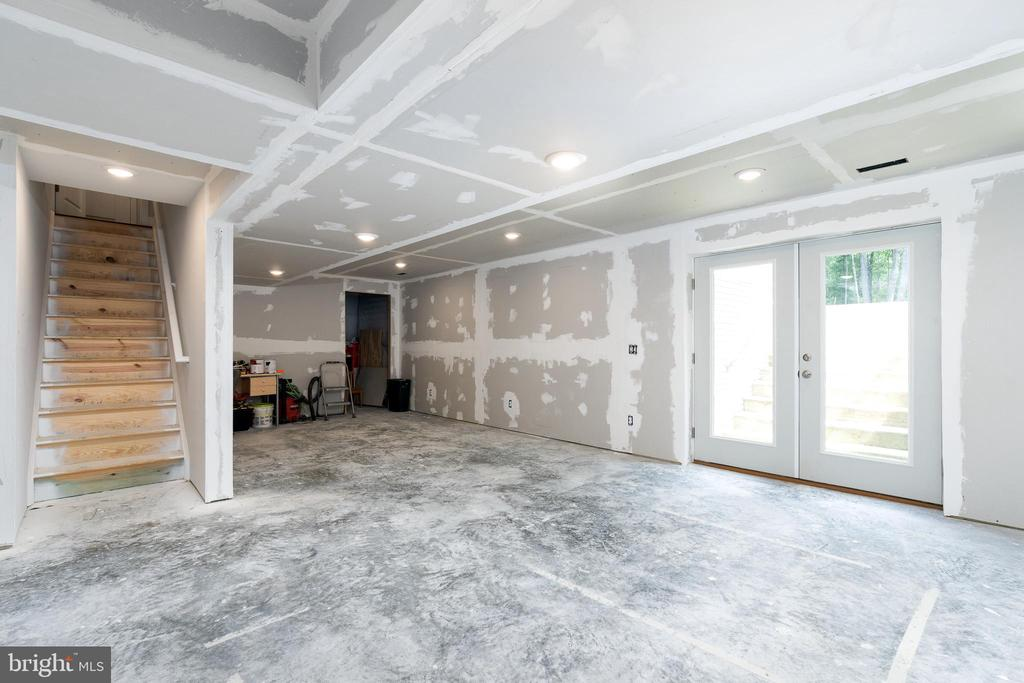 The basement almost completely finished! - 10903 STOCKADE DR, SPOTSYLVANIA