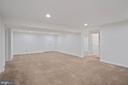 The rec room is huge - 17559 SPRING CRESS DR, DUMFRIES