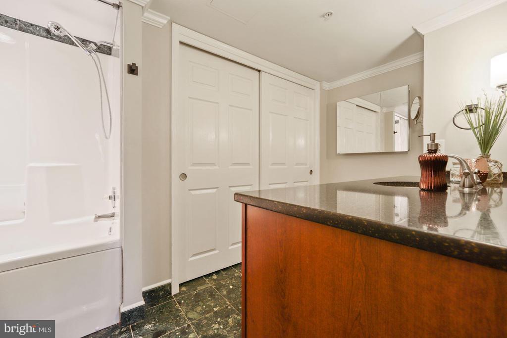 Large closet in bath for linens & everything else - 1276 N WAYNE ST #608, ARLINGTON