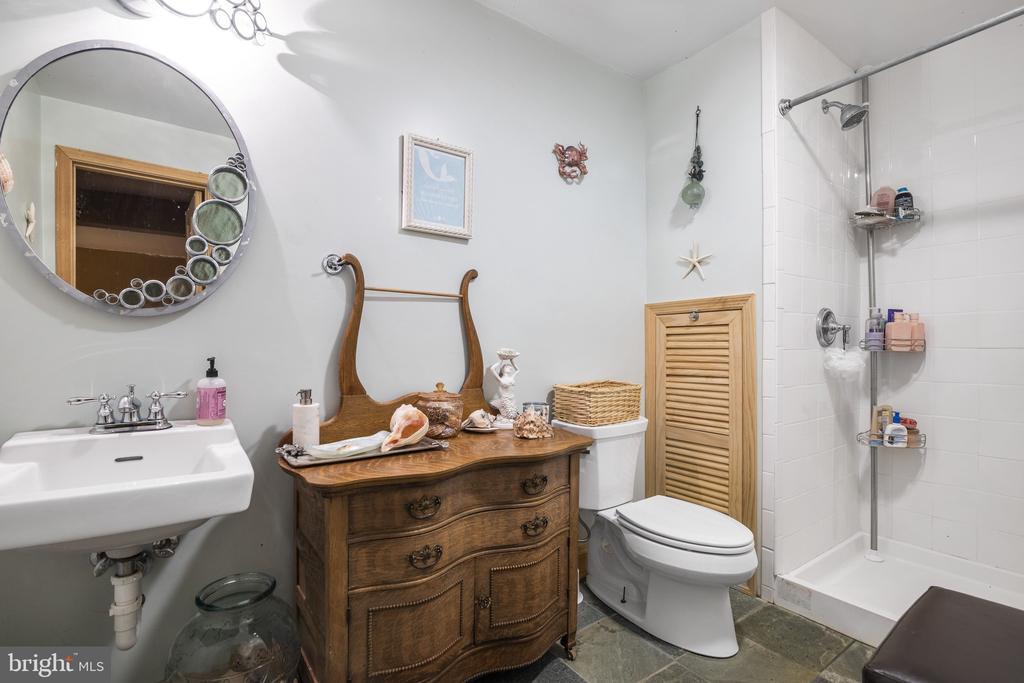 LL Bath w/ Ceramic Tile Floor & Tile Shower. - 23039 RAPIDAN FARMS DR, LIGNUM