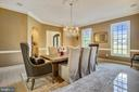 Embassy-size Dining Room for Entertaining - 2539 DONNS WAY, OAKTON